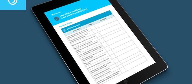 Checklist e feedback para projetos hidráulicos