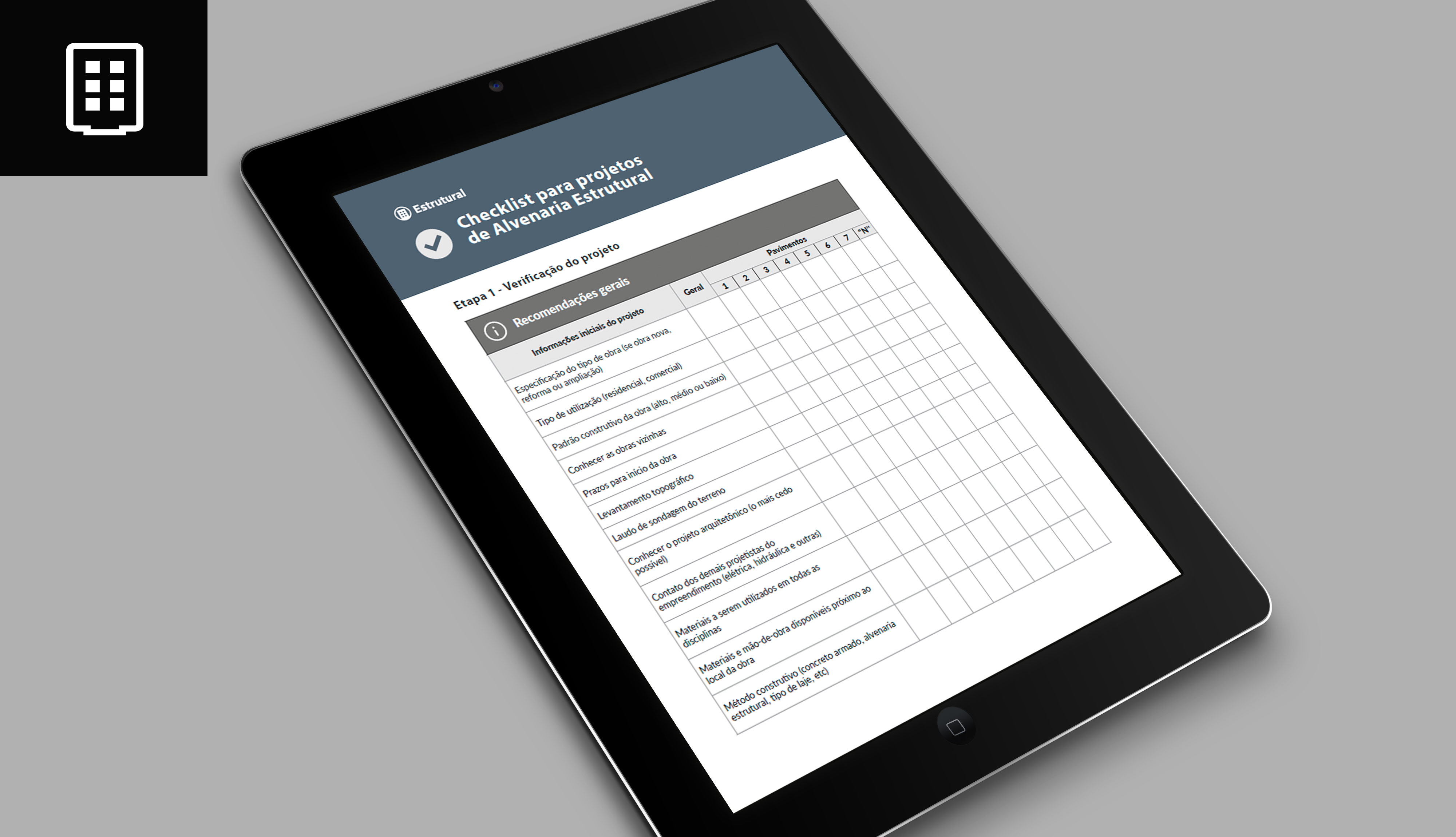 Checklist para projetos de alvenaria estrutural