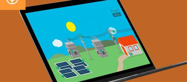 Infográfico interativo: A produção de energia por usina fotovoltaica
