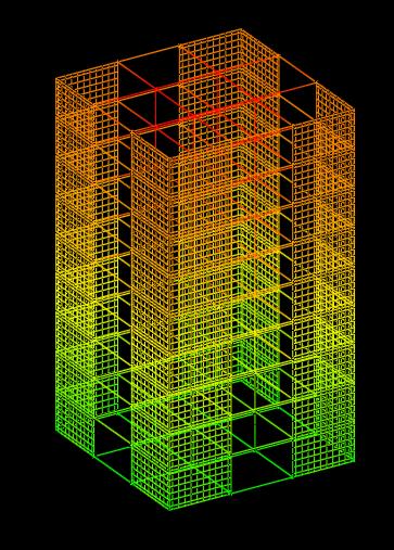 Modelação estrutural de pilares parede: Analogia de grelha