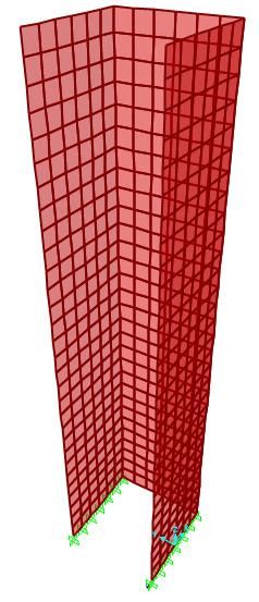Modelação estrutural de pilares parede: Método dos Elementos Finitos