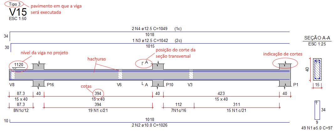 imagem-3 elementos-de-desenho-inseridos-no-detalhamento-da-viga